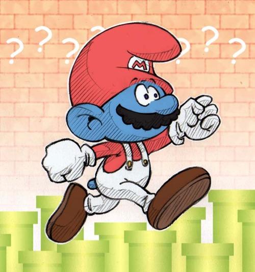 Mario x Schtroumpf