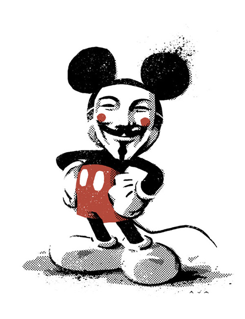 Mickey x V For Vendetta