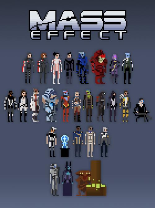 Mass Effect x Pixel Art